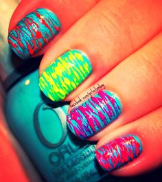 Beautiful Bright and Neon Nails Designs - I Heart My Nail Art Neon Nail Designs, Pretty Nail Designs, Neon Nail Art, Neon Nails, Pretty Nail Colors, Pretty Nails, Bright Nails, Colorful Nails, Nail Pictures