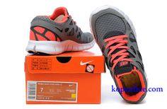 Kopen goedkoop Schoenen dames nike free run 2 (kleur:vamp-grijs;inside-oranje,logo,tong-wit) online in nederland.
