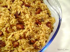 Arroz con Guandules, Rice With Pigeon Peas | Mari's Cakes (English)