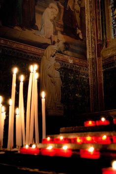 Prayer Candles at Cathédrale Notre-Dame de Paris. it was a most surreal evening listening to everyone sing on New Year's Eve in Notre Dame. Magical almost.