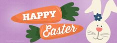 Easter - Happy Easter Bunny Carrots - Free Facebook Covers, Facebook Timeline Profile Covers #Easter #Holiday #EasterBunny #TimelineCover