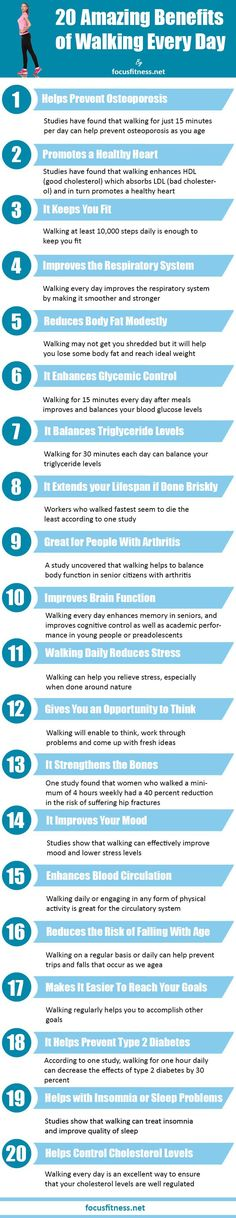 20 Amazing Benefits of Walking Every Day @PTrainerFood