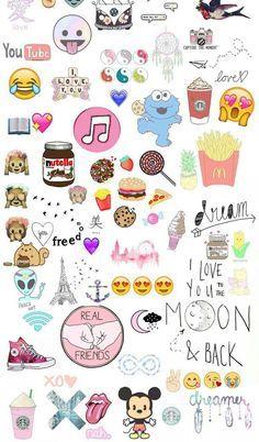 food emoji wallpaper - Google Search: