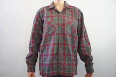 Vintage 90s Plaid Flannel Grunge Hipster Shirt by SycamoreVintage $12.99