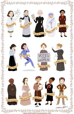 Women in History I. Art print 1 of 3. Art by Catherine and Sarah Satrun