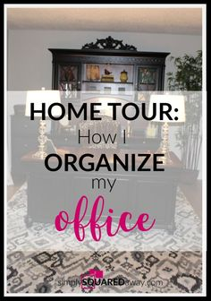 Home Tour: How I Organize My Office – Paper, office supplies, files, etc. – office organization at work desks Office Organization At Work, Paper Organization, Paperwork Organization, Modern White Desk, Office Paper, Organizing Your Home, Organizing Tips, Formal Living Rooms, House Tours