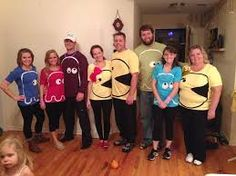 Put on your creative hat as you check out these spooky Halloween Group Costumes; Perfect group Halloween costume for the office groups and frineds groups. Pacman Ghost Costume, Pac Man Costume, Ghost Costume Diy, Ghost Costumes, Costume Ideas, Teacher Costumes, Group Halloween Costumes, Family Costumes, Children Costumes