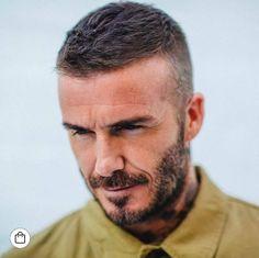Check out Inherent Clothier shop for Premium Quality Suits! Short Hair With Beard, Hair And Beard Styles, Short Hair Styles, Haircuts For Balding Men, Thin Hair Haircuts, Mens Hair Shaved Sides, High Fade Haircut, Mens Crop Haircut, David Beckham Haircut