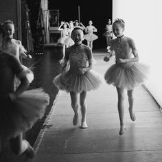 PNB School Students backstage after George Balanchine's Coppélia.