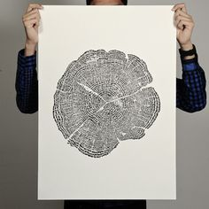 stamped tree trunk