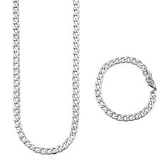 A stainless steel chain necklace and bracelet set for men in a handsome curb chain design. Regularly $44.99, buy Avon Jewelry online at http://eseagren.avonrepresentative.com