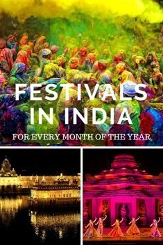 India is a land of culture and diversity. Find out the curated list of festivals in India that you can attend one for every month of the year. Festivals Of India, Festivals Around The World, Indian Festivals, Local Festivals, India Travel Guide, Asia Travel, Travel Guides, Travel Tips, Travel Destinations
