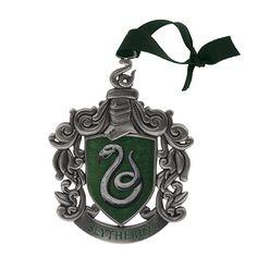 Wizarding World of Harry Potter Slytherin Metal Crest Ornament | eBay  $29.95