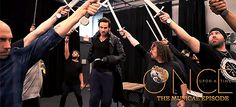 Colin O'Donoghue rehearsing 'Revenge Is Gonna Be Mine' from Once Upon A Time: The Musical Episode. (x)