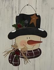 Snowman Head With Scarf