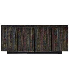 Sculpted Front Credenza Sideboard by Paul Evans #MidCenturyModern #PaulEvans