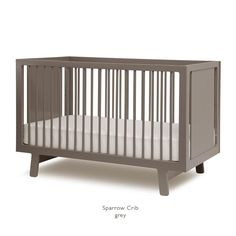 SPARROW CRIB: one of the most popular cribs with our clients in the City. We love it combined with the dresser!