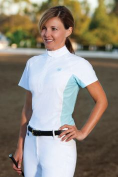 Romfh Ladies Tempo Show Shirt-  cooling fabric for those hot days with that classic look under your coat!