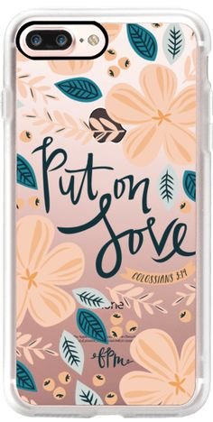Casetify iPhone 7 Plus Case and other Bridal and Floral iPhone Covers - Put on Love by French Press Mornings | Casetify