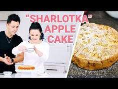 """""""Sharlotka"""" is a classic Russian apple cake. In some parts of the world, it's known as the French Apple cake. This cake only requires 5 ingredients and around 25 minutes of prep time! Pastry Dough Recipe, Puff Pastry Dough, Apple Cake Recipes, Pie Recipes, Flour Recipes, Sweet Recipes, Dessert Recipes, Beef Lo Mein Recipe, Kitchen"""