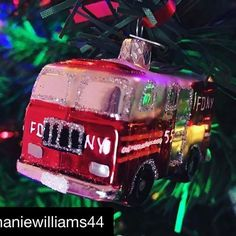 Looking very festive! with ・・・ The tree is up! Christmas Lights, Merry Christmas, Christmas Ornaments, Fortnum And Mason, Christmas Crackers, Firetruck, Bauble, Festive, Santa