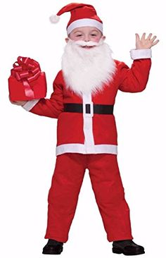 Simply Santa Claus Christmas Child Costume One Size Fits Up To Size 10 ** Learn more by visiting the image link. #DressUpandPretendPlay