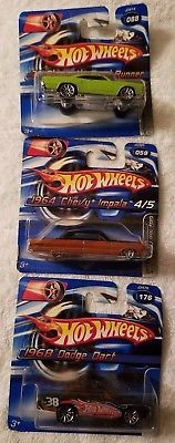 Hot-Wheels-1-64-Die-Cast-Car-Lot-of-3-Toy-Vehicle-Collectible-Boy-Girl-New