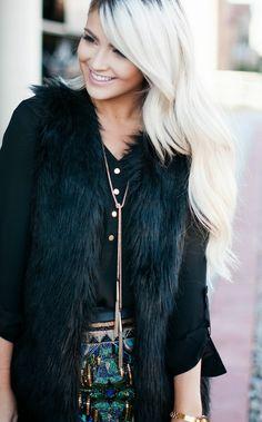 fur with everything this season. blogger cara loren
