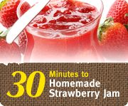 I made freezer strawberry jam again this year during our spring break (March 10-18).  I cut the strawberries and then put them in the refrigerator until I was ready to make the jam.  Big tip - don't try this with cold berries, the sugar didn't dissolve and the jam didn't set.  A good secret is to heat the berries a little and give them extra time to soak up the sugar.  Doing this made the jam very smooth!  I used Sure-Jell brand pectin.