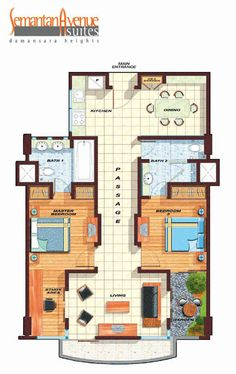 presidentual suite floor plans | Typical Layout Plan - Floor Plan - Presidential Suite ( 2 - Bedroom)