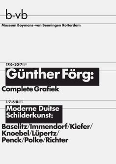 8vo / Museum Boymans-van Beuningen Rotterdam / Poster / 1989