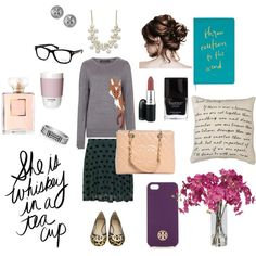 """Classic Geek Chic with Feminine Flare"" by emmaloggins on Polyvore"