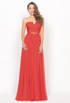 Celebrity Strapless Ruched A-Line Chiffon Formal Prom Evening Dress,Primary Color: Red Collar Type: Strapless Sleeve Style: Sleeveless Waist: Empire Fabric: Chiffon Material: Polyester Technics: Ruched Lining: Boned & Hidden Bust Support Closure: Hidden Zipper in Back Length: Full Length Silhouette: A-Line Occasion: Formal Prom, Evening Party, Celebrity etc.
