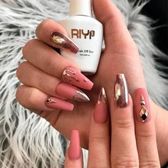 Official Website 20 False Nails Full Cover Oval Tips Cute Bride Heart Red Health & Beauty