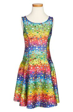 Zara+Terez+'Rainbow+Emoji'+Dress+(Big+Girls)+available+at+#Nordstrom