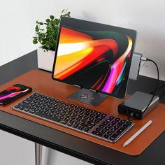 Who prefers working on an iPad Pro than a desktop? Computer Desk Setup, Kids Computer, Computer Build, Gaming Computer, Desktop Gadgets, Computer Gadgets, High Tech Gadgets, Computer Programming, Computer Photography