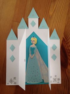 Elsa from Frozen, 5th Birthday card