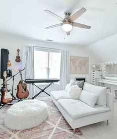Totally renovated beautiful home in Edenwilde. No expense was spared in renovating this home - over $200,000 in upgrades! Newly painted white brick exterior, upgraded light fixtures, hardwoods throughout the home & every bathroom has been updated. #house #home #homemakeover #luxurioushouse #architecture #musicroom