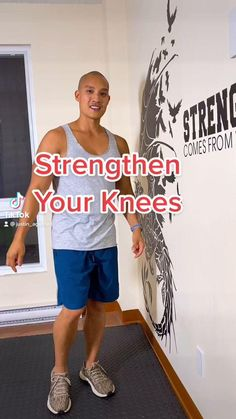 Knee Strengthening Exercises, How To Strengthen Knees, Fitness Workout For Women, Senior Fitness, Flexibility Workout, Workout For Beginners, Easy Workouts, Workout Videos, Stretching