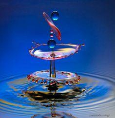 water drop by parminder singh Water Drop Photography, High Speed Photography, Motion Photography, Color Photography, Macro Photography, Splash Fotografia, Fotografia Macro, Image Nature, Water Art