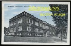 MONMOUTH IL MONMOUTH HIGH SCHOOL OLD POSTCARD Ill Illinois