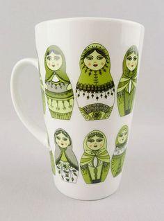 Souvenirs from Russia. Matryoshka Russian Doll Mug.