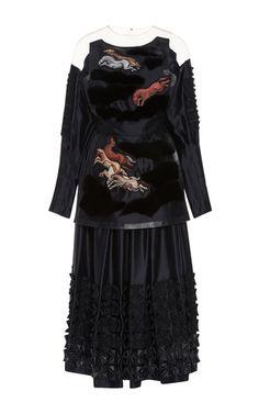 Off The Shoulder Silk Dress by ALENA AKHMADULLINA for Preorder on Moda Operandi