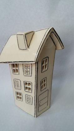 Ceramic house for tea light