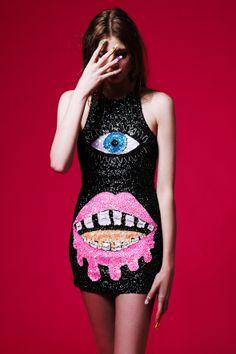 CYCLOPS BLACK DRESS | DI$COUNT UNIVER$E