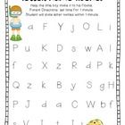 Fluency Practice {LNF, LSF, NWF, PSF} FREEBIE    Have students practice letter name fluency, letter sound fluency, nonsense words fluency, and phonem...
