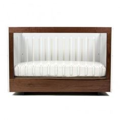 Roh Crib from @yliving  - LOVE the mix of wood and acrylic for a super-modern, chic crib! #PNpartner