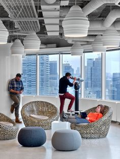 linkedin-toronto-office with Arpers Pix poufs