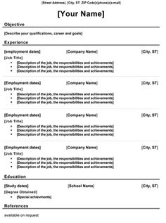 ideas about chronological resume template on pinterest    chronological resume template free   http     resumecareer info chronological
