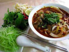 Bun bo Hue (beef vermicelli of Hue city) - Street dish attracts diners   About Vietnam  #food #vietnam #bun